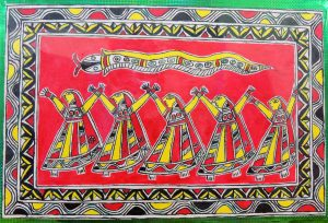 Five Mansa Sisters - Bishari in Manjusha Art