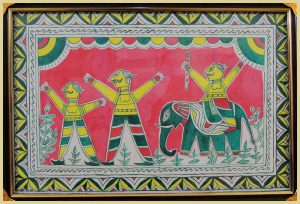 Chandu Saudagar Painting in Manjusha Art