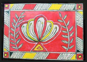 Champa Flower in Angika Art