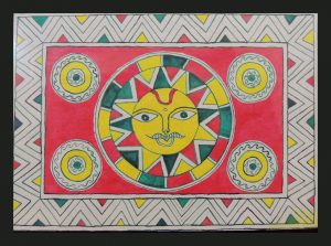 God Sun Painting in Manjusha Art