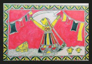 Netula Dhobin Painting in Manjusha Art