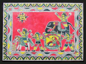 Wedding of Bihula-Bala Painting in Manjusha Art