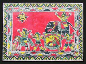 Wedding of Bihula-Bala Painting in Manjusha Art