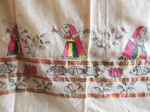 Manjusha Art Motifs on Fabric
