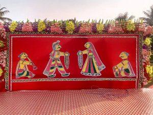 Manjusha Art Decoration in Wedding Stage