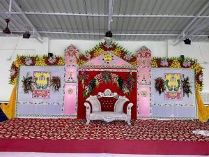 Angika Folk Art in Wedding Stage