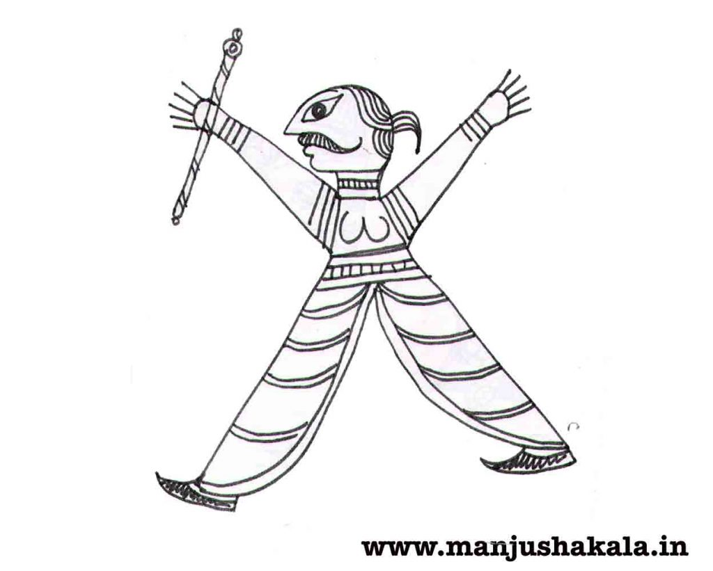 Male Motifs in Manjusha Art